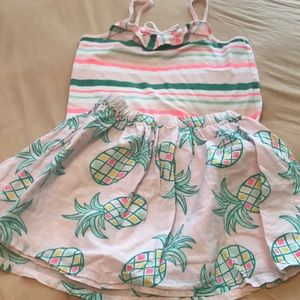 Gymboree  Pineapple Skirt And tank top